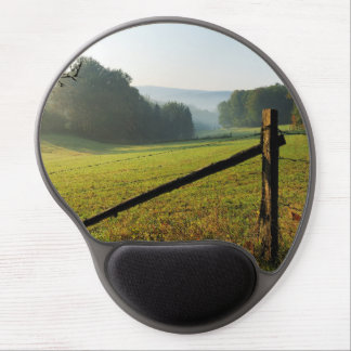 Autumn morning in the winner country gel mouse pad