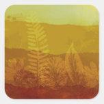 Autumn Morning Square Sticker