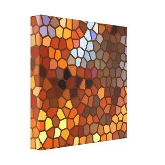 Autumn Mosaic Abstract wrappedcanvas