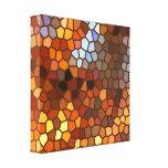 Autumn Mosaic Abstract Canvas Print