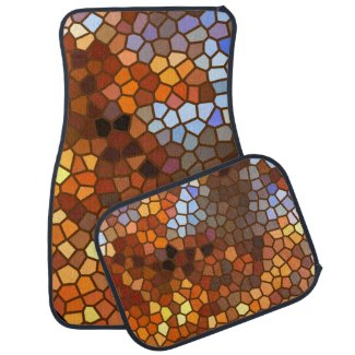 Autumn Mosaic Abstract Car Mat