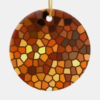Autumn Mosaic Abstract Ceramic Ornament