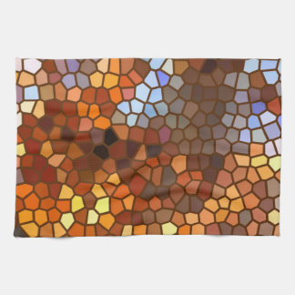 Autumn Mosaic Abstract Hand Towel