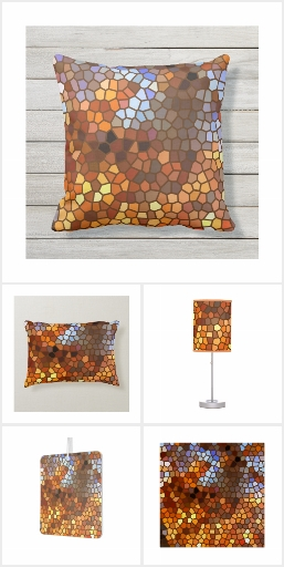 Autumn Mosaic Abstract Home Decor