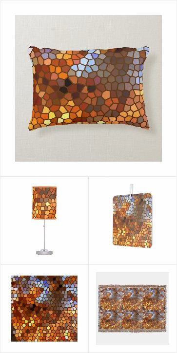 Autumn Mosaic Abstract Home Decor