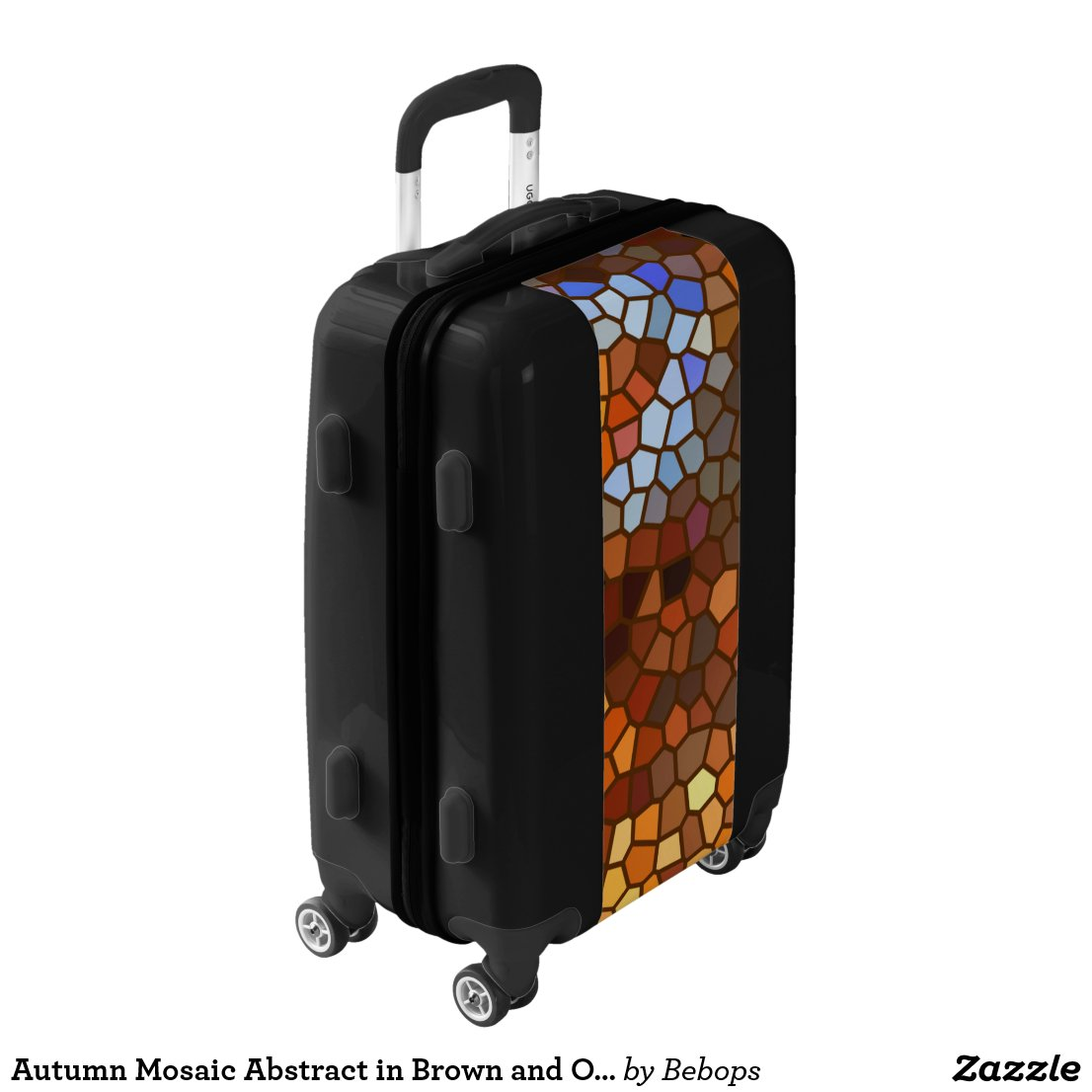Autumn Mosaic Abstract in Brown and Orange Luggage