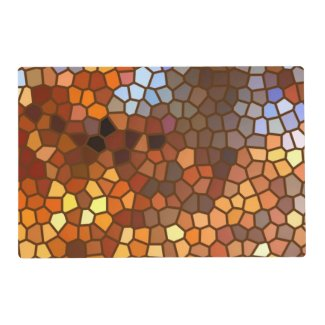 Autumn Mosaic Abstract Laminated Placemat