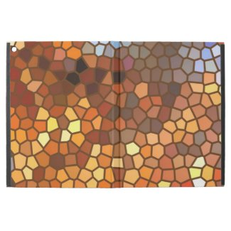 Autumn Mosaic Abstract Orange Brown iPad Pro Case