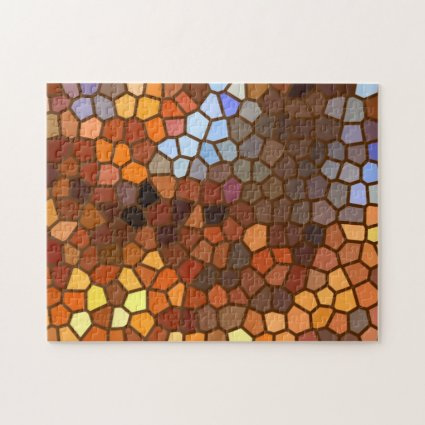 Autumn Mosaic Abstract Pattern Puzzle