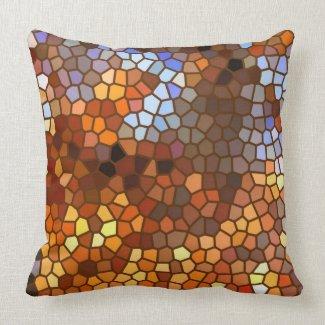 Autumn Mosaic Abstract mojo_throwpillow