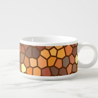 Autumn Mosaic Abstract Soup Bowl
