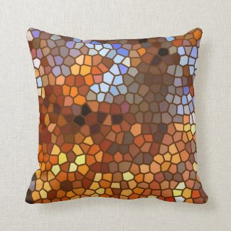Autumn Mosaic Abstract Throw Pillow