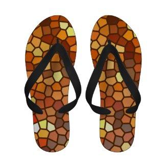 Autumn Mosaic Flip Flops