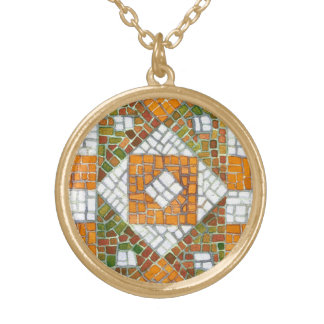 Autumn Mosaic Gold Plated Necklace