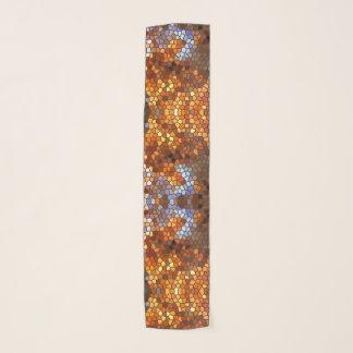 Autumn Mosaic Tile Abstract Pattern  Chiffon Scarf