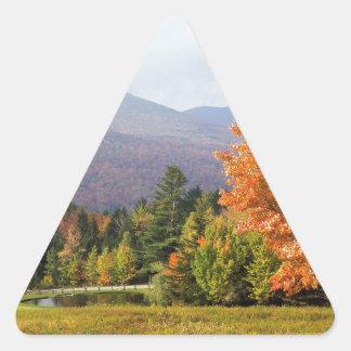 Autumn Mount Mansfield Vermont Triangle Sticker