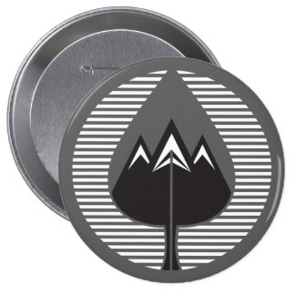 autumn mountains 4 inch round button