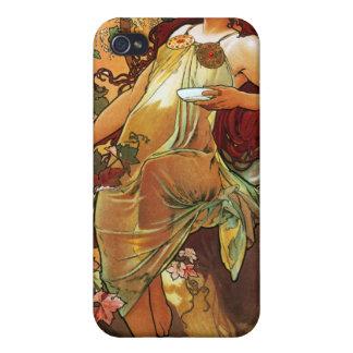 Autumn, Mucha iPhone 4 Case
