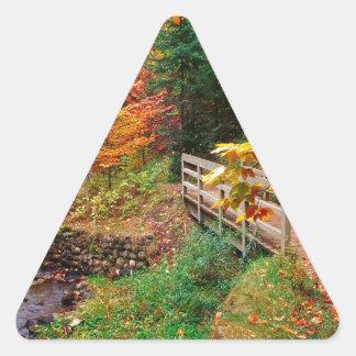 Autumn Munising Trail Alger County Michigan Triangle Sticker