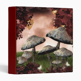 Autumn Mushrooms Binder