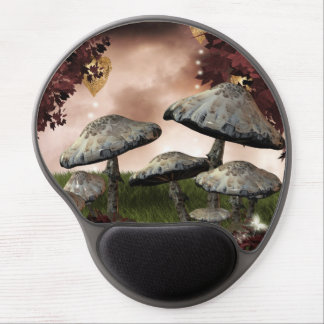 Autumn Mushrooms Gel Mouse Pad