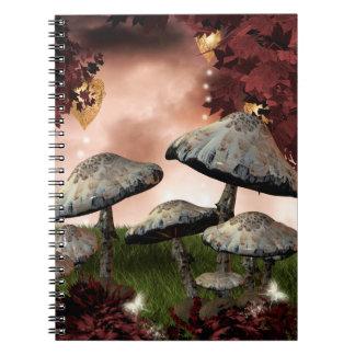 Autumn Mushrooms Notebook