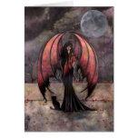 Autumn Mystique Gothic Fairy Fantasy and Cat Card
