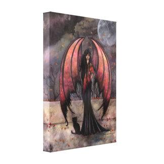 Autumn Mystique Gothic Fantasy Fairy Art Canvas Print