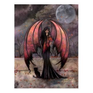 Autumn Mystique Gothic Fantasy Fairy Art Postcard