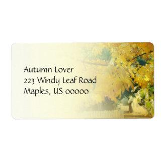 Autumn Neighborhood Avery Label