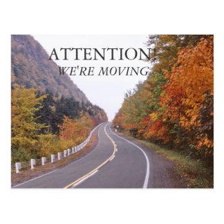 Autumn New Hampshire Moving Postcard