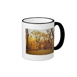 Autumn - New York City Ringer Coffee Mug