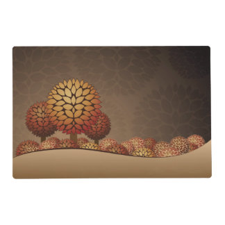 Autumn Night Landscape. Abstract Placemat