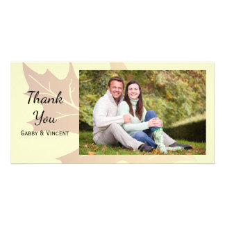 Autumn Oak Leaf Thank You Card