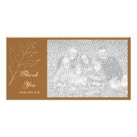 Autumn Oak Leaf Thank You Photo Card