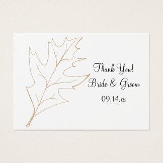 Autumn Oak Leaf Wedding Favor Tags