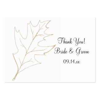 Autumn Oak Leaf Wedding Favor Tags Large Business Cards (Pack Of 100)