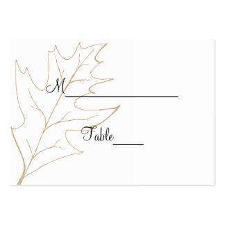 Autumn Oak Leaf Wedding Place Card Large Business Cards (Pack Of 100)