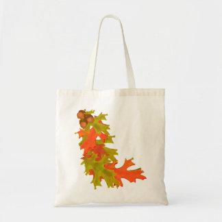 Autumn oak leaves bags