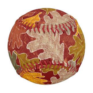 Autumn Oak Leaves Baseball