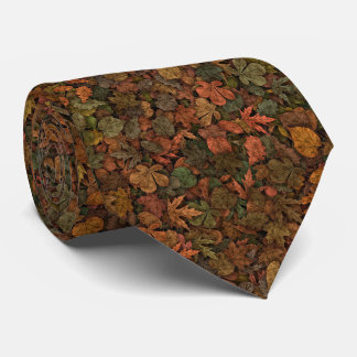 Autumn Oak Leaves Camouflage Greens & Golds Rust Neck Tie