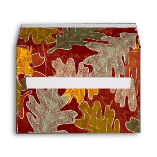 Autumn Oak Leaves Envelope