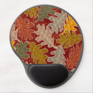 Autumn Oak Leaves Gel Mouse Pad