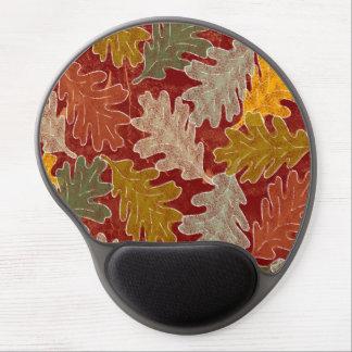 Autumn Oak Leaves Gel Mouse Pad