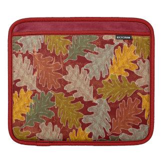 Autumn Oak Leaves iPad Sleeves