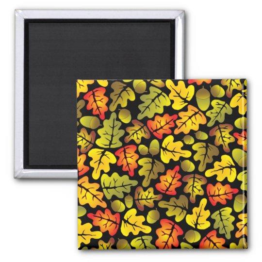 autumn oak leaves magnet