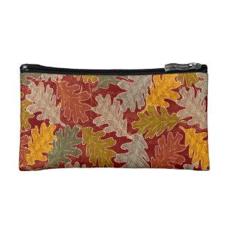 Autumn Oak Leaves Makeup Bag