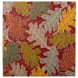 Autumn Oak Leaves Napkin