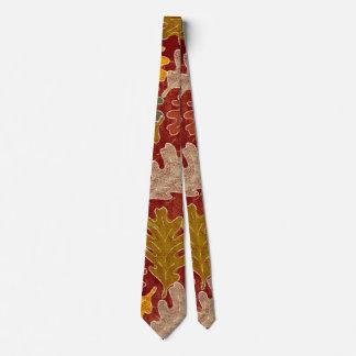 Autumn Oak Leaves Neck Tie