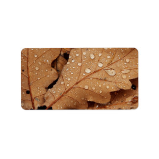 Autumn Oak Leaves Personalized Address Labels